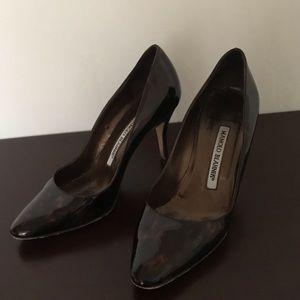 Manolo Blahnik 3 inch pumps brown Size 34 1/2 (5)